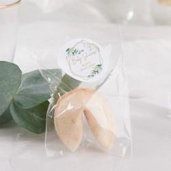 CIASTECZKA z wróżbą na Baby Shower Botaniczne 10szt (+etykiety z imieniem)
