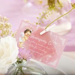 ETYKIETKA podziękowanie Różowy Aniołek 10szt