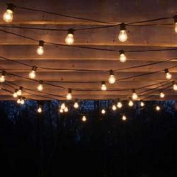 LAMPKI Led do pokoju dziecka Boże Narodzenie CZARNE 5m