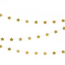 GIRLANDA Gwiazdki ZŁOTA 3,6m