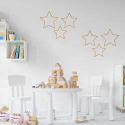ZAWIESZKI Gwiazdy dekoracje na ścianę Drewniane 3szt