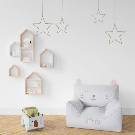 ZAWIESZKI Gwiazdy metalowe dekoracje na ścianę 2szt