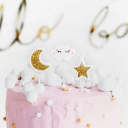 ŚWIECZKI na tort urodzinowy Chmurka i Gwiazdka szt