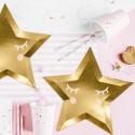 TALERZYKI papierowe Little Star Gwiazda Złota 27cm 6szt