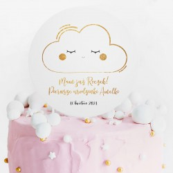 TOPPER na tort urodzinowy Chmurka Roczek Z IMIENIEM