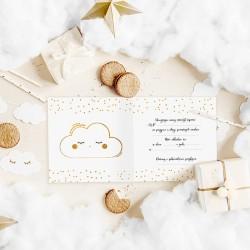 ZAPROSZENIA na Roczek Złota Chmurka 10szt (+koperty)