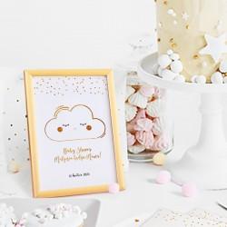 TABLICZKA na stolik Chmurka Baby Shower (+ramka)