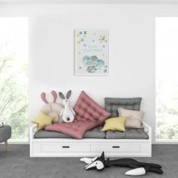 PLAKAT dla dziecka do pokoju Z IMIENIEM A4/A3 Słonik z serduszkiem