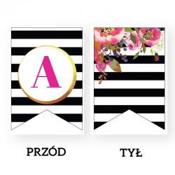 LITERA do baneru personalizowanego Flowers&Stripes