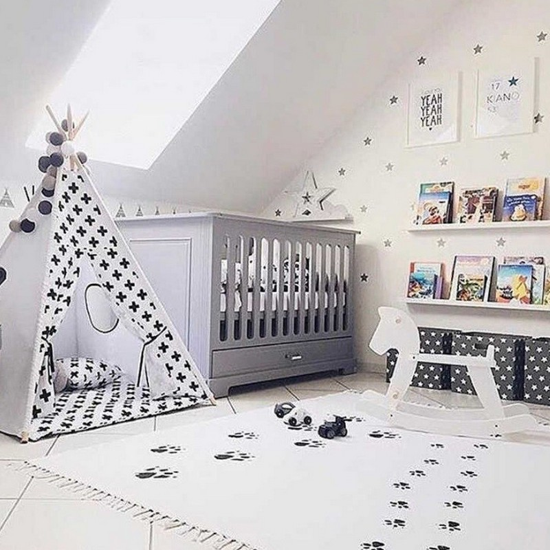 Dywan do pokoju dziecka z frędzlami boho