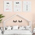 PLAKATY dla dziecka do pokoju A4/A3 Słodki Kotek 3szt
