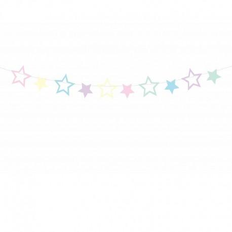 GIRLANDA papierowa gwiazdki Unicorn 1,4m