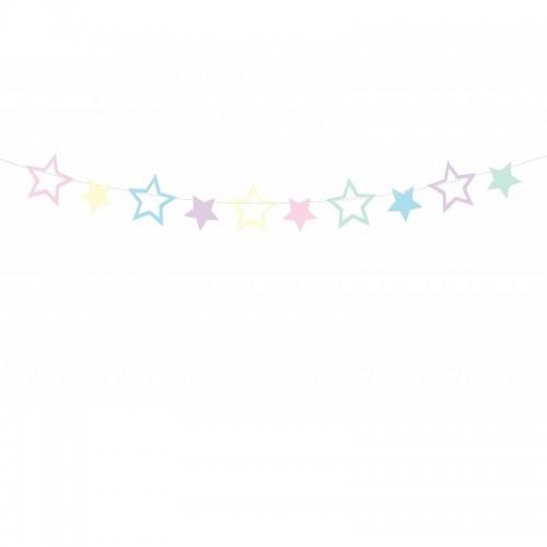 GIRLANDA papierowa gwiazdki Unicorn Jednorożec 1,4m