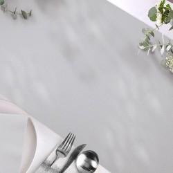 BIEŻNIK flizelinowy obrus Srebrny 40cmx10m