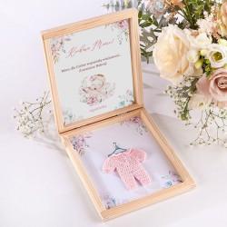 GRATULACJE dla dziadków Zostaniesz Babcią/Dziadkiem w pudełku RÓŻOWY KUBRACZEK