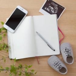 NOTATNIK ciążowy Z IMIENIEM Kwiaty Rosegold 80 kartek czystych