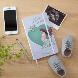 NOTATNIK ciążowy Z IMIENIEM Serce 80 kartek w kratkę