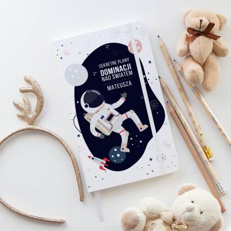PAMIĘTNIK dla dzieci notatnik Z IMIENIEM Astronauta 80 kartek w kratkę