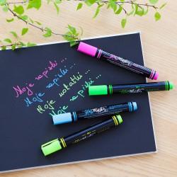 PISAKI markery kolorowe do ksiąg z czarnymi kartkami 4szt