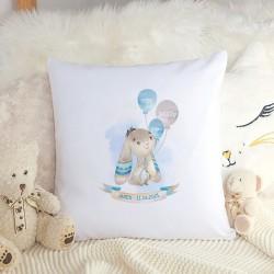 PODUSZKA dla dziecka Niebieski Króliczek dla chłopca METRYCZKA