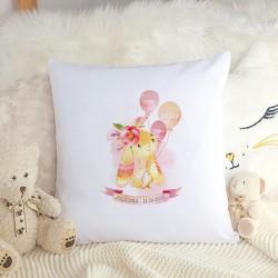 PODUSZKA dla dziecka Różowy Króliczek dla dziewczynki METRYCZKA