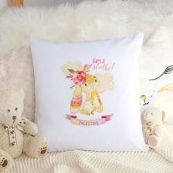 PODUSZKA dla dziecka Różowy Króliczek dla dziewczynki Z IMIENIEM