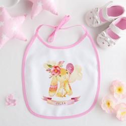 ŚLINIAK dla dziecka Różowy Króliczek Z IMIENIEM różowy
