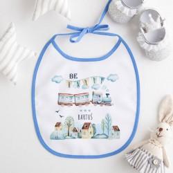 ŚLINIAK dla dziecka Lokomotywa Z IMIENIEM niebieski