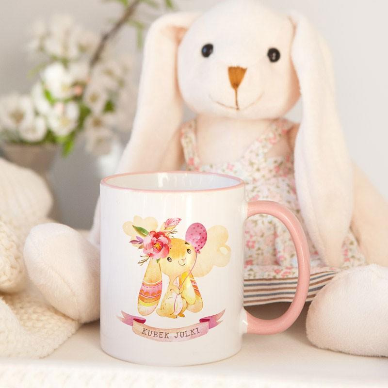 Prezent na Wielkanoc w formie kubka z króliczkiem