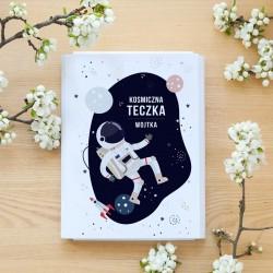 TECZKA dla dziecka na rysunki Astronauta Z IMIENIEM BIAŁA