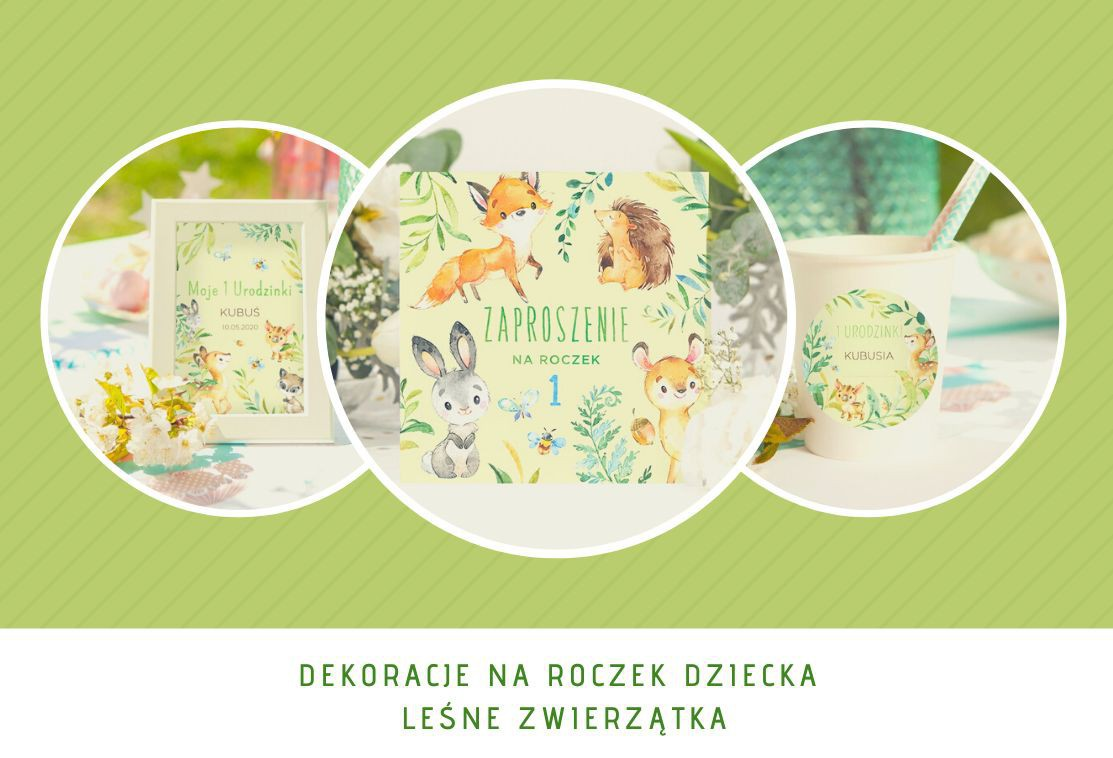 Najmodniejsze dekoracje na Roczek - Leśne Zwierzątka