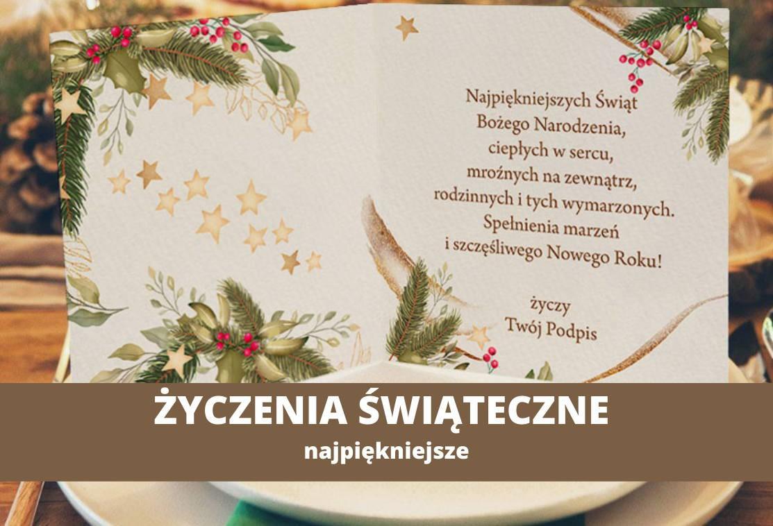 Życzenia świąteczne, życzenia bożonarodzeniowe NAJPIĘKNIEJSZE