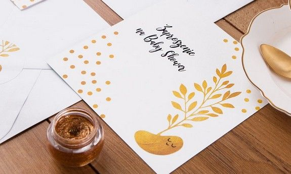 Gold Dots - Baby Shower