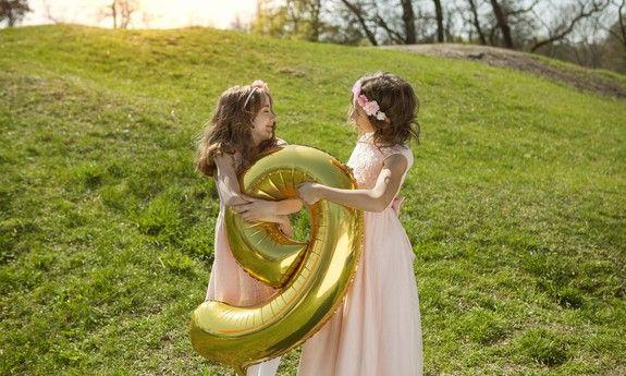 Balony litery i cyfry na roczek, chrzest i urodziny