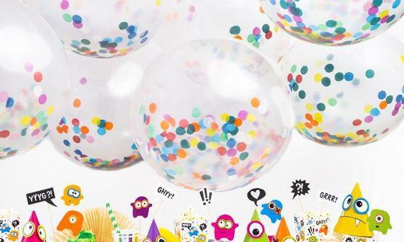 Balony z konfetti na chrzest, urodziny i roczek