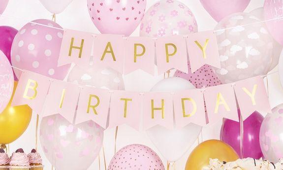 Girlandy urodzinowe i banery