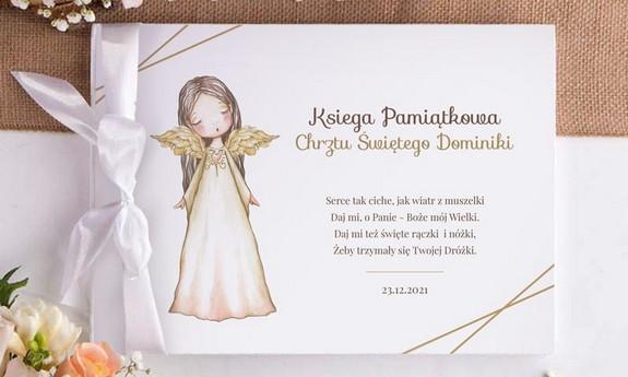 Rustykalny Chrzest Anioł Stróż