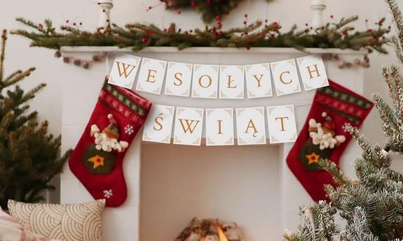 Banery świąteczne i girlandy