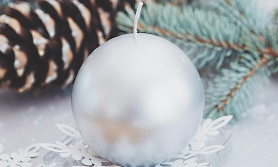 Świece świąteczne na Boże Narodzenie