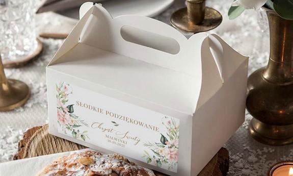 Pudełka na ciasto dla gości Chrzest