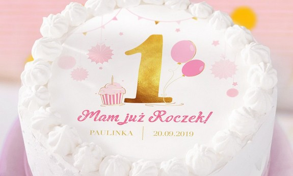 Dekoracje tortu na Roczek