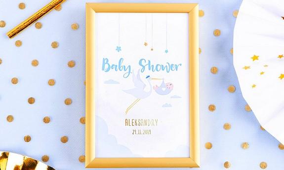 Tabliczki na stół na Baby Shower