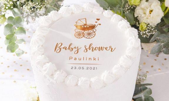 Opłatki na tort Baby Shower