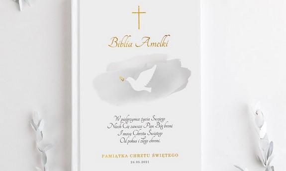 Biblie na Chrzest z imieniem