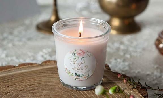 Świeczki na podziękowania dla gości na Chrzest