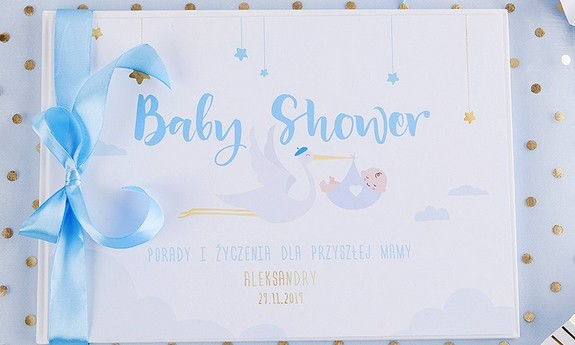 Albumy i księgi na Baby Shower