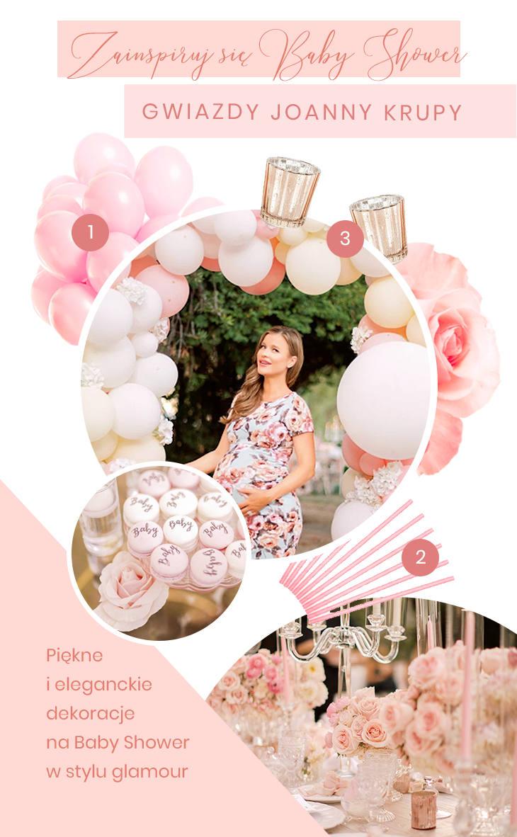 Dekoracje na Baby Shower Joanny Krupy