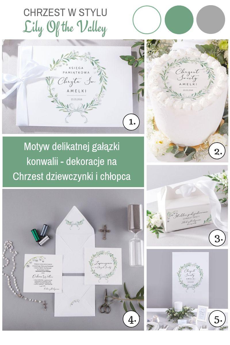 Eleganckie dekoracje na chrzest dziecka konwalie