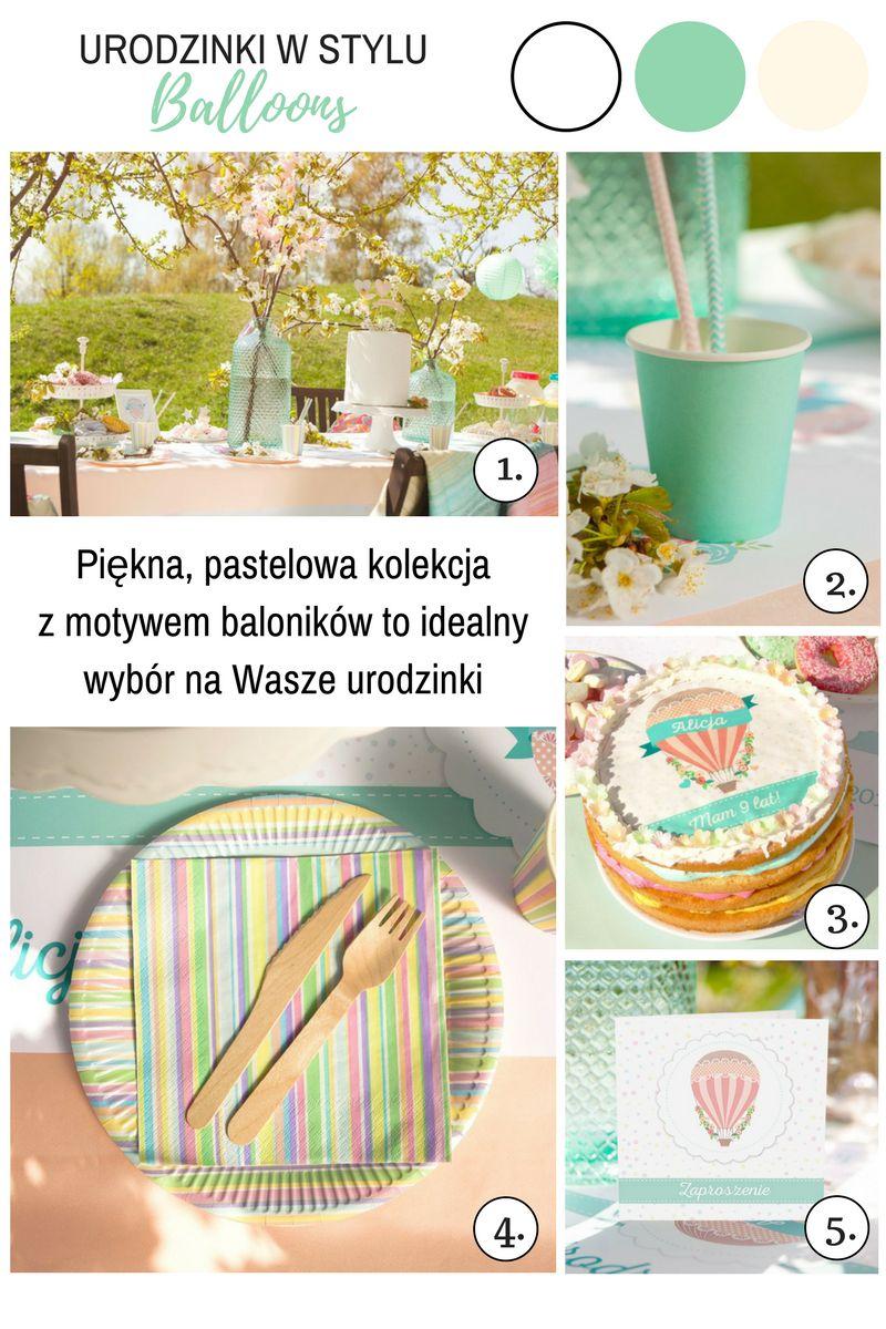 Pastelowe dekoracje urodzinowe dla dziecka