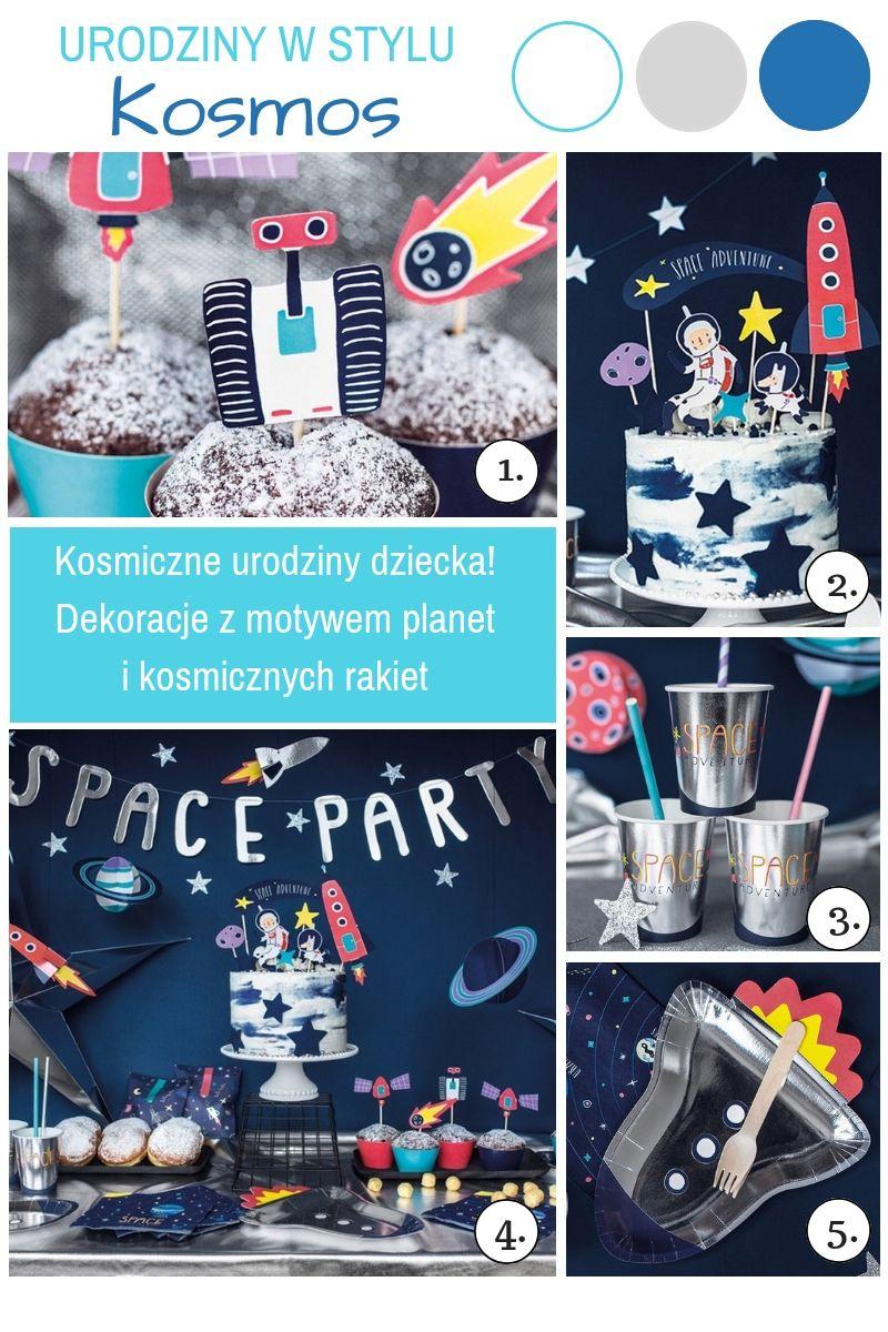 Dekoracje urodzinowe dla chłopca kosmos
